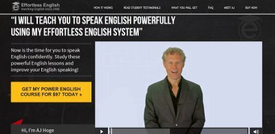 Effortless English Podcast web page