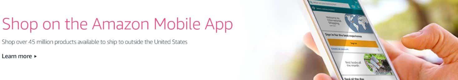 amazon アプリ インターナショナル ショッピング